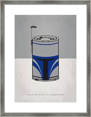 My Star Warhols Jango Fett Minimal Can Poster Framed Print by Chungkong Art
