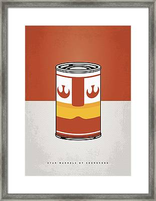 My Star Warhols Luke Skywalker Minimal Can Poster Framed Print