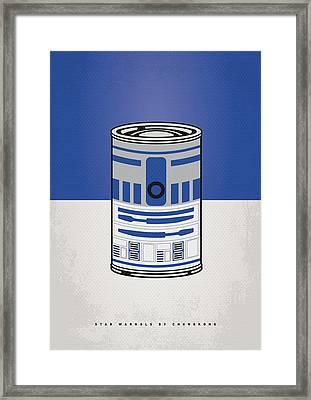 My Star Warhols R2d2 Minimal Can Poster Framed Print