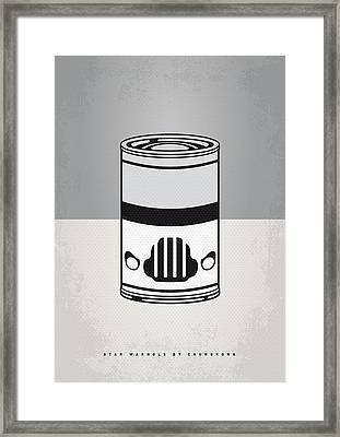 My Star Warhols Stormtrooper Minimal Can Poster Framed Print by Chungkong Art