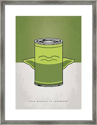My Star Warhols Yoda Minimal Can Poster Framed Print by Chungkong Art