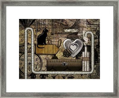 My Steampunk Heart Framed Print