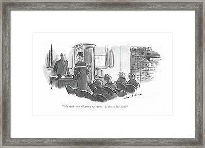 My Stocks Are All Going Up Again. Is That A Bad Framed Print by Helen E. Hokinson