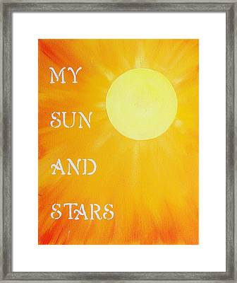My Sun And Stars Game Of Thrones Art Framed Print by Michelle Eshleman