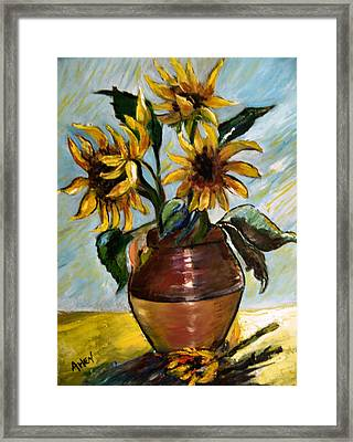 My Sunflowers Framed Print