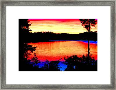 My Favorite Enjoy The Sunset Place  Framed Print by Hilde Widerberg