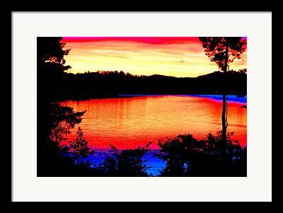 Norwegian Sunset Mixed Media Framed Prints
