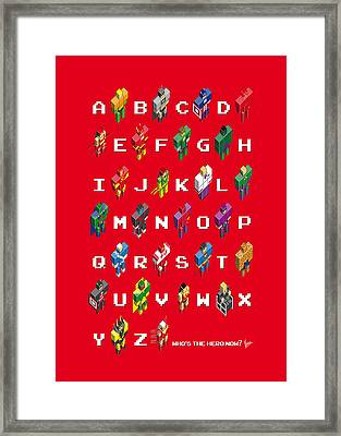 My Super Abc Minimal Poster Framed Print by Chungkong Art