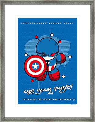 My Supercharged Voodoo Dolls Captain America Framed Print by Chungkong Art