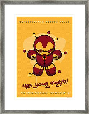 My Supercharged Voodoo Dolls Ironman Framed Print