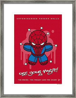 My Supercharged Voodoo Dolls Spiderman Framed Print