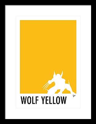 Yellow Green Digital Art Framed Prints