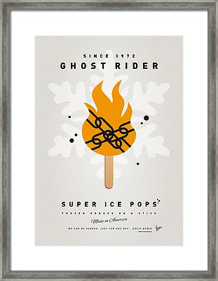 My Superhero Ice Pop - Ghost Rider Framed Print by Chungkong Art