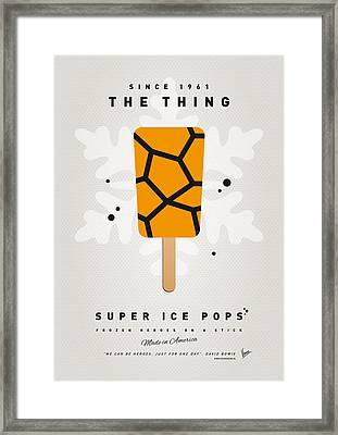 My Superhero Ice Pop - The Thing Framed Print by Chungkong Art