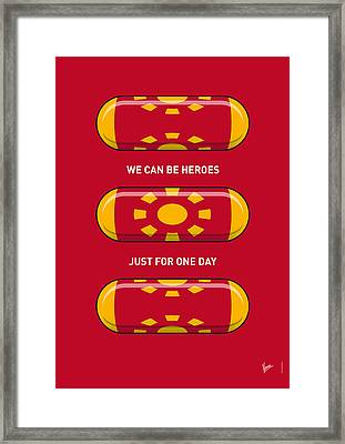 My Superhero Pills - Iron Man Framed Print by Chungkong Art