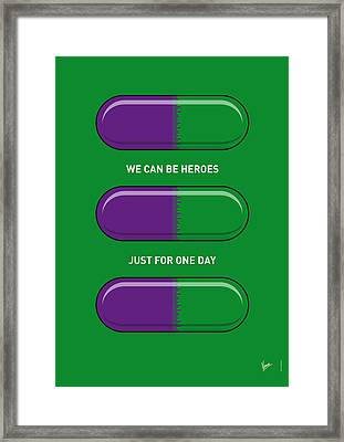 My Superhero Pills - The Hulk Framed Print