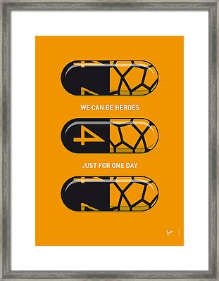 My Superhero Pills - The Thing Framed Print