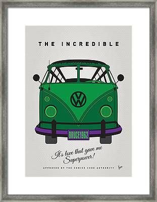 My Superhero-vw-t1-hulk Framed Print by Chungkong Art