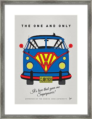 My Superhero-vw-t1-superman Framed Print by Chungkong Art