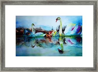 My Swam Lake Framed Print by Isabel Salvador