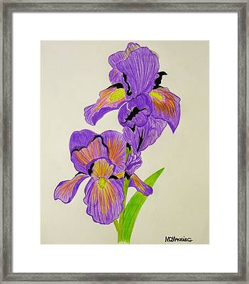 My Sweet Iris Framed Print by Celeste Manning