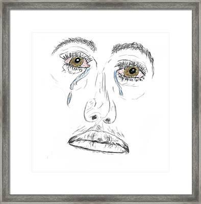 My Tears Framed Print