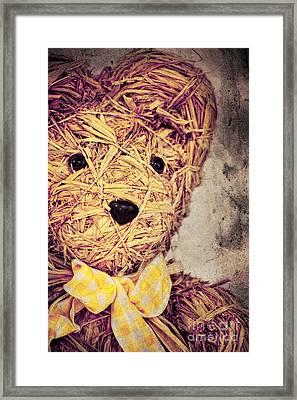 My Teddy Bear Framed Print by Angela Doelling AD DESIGN Photo and PhotoArt