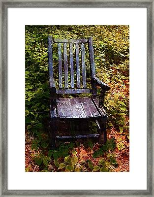 My Thinking Chair Framed Print by RC deWinter