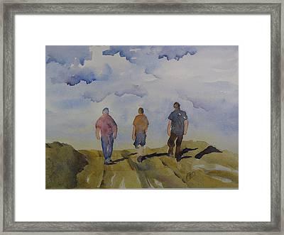My Three Boys Framed Print by Ramona Kraemer-Dobson