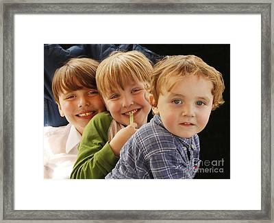 My Three Grandsons Framed Print