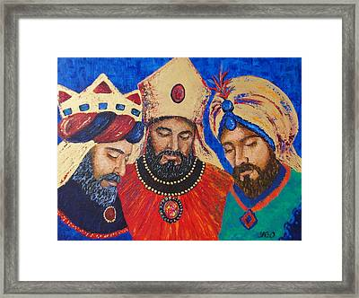 My Three Wise Kings Framed Print by Yamelin Gonzalez-Ortiz