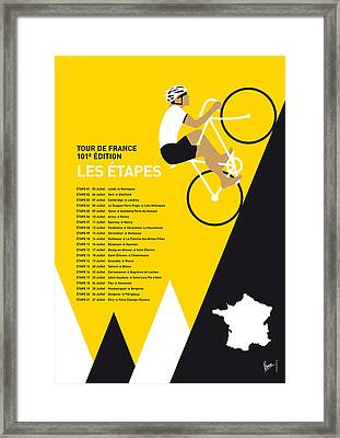 My Tour De France Minimal Poster 2014-etapes Framed Print by Chungkong Art