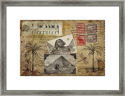 My Trip To Egypt 1914 Framed Print by Carol Leigh
