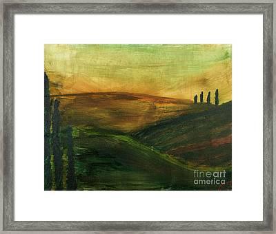 My Tuscany  Framed Print by Katy  Scott