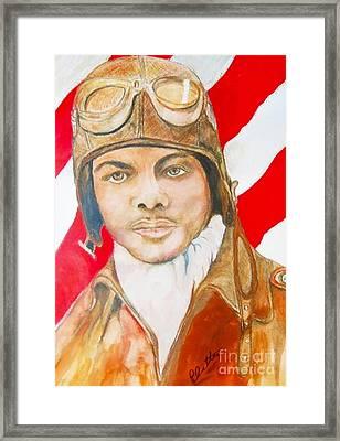 My Tuskegee Airman Framed Print by E La Rue