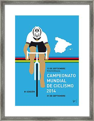 My Uci Road World Championships Minimal Poster 2014 Framed Print by Chungkong Art