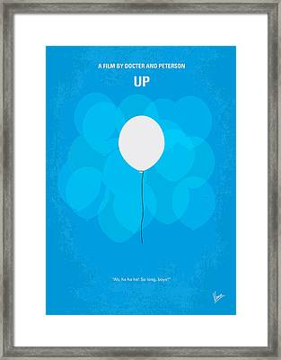 My Up Minimal Movie Poster Framed Print