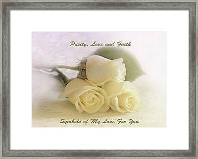 My Valentine Framed Print by Betty LaRue