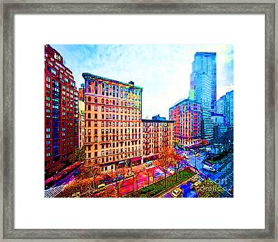 My View Nyc Framed Print by Beth Saffer