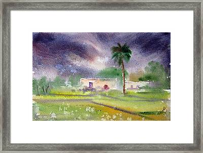 My Village Framed Print by M Kazmi