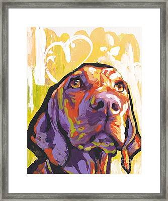 My Vizsla Heart Framed Print by Lea S