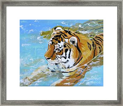 My Water Tiger Framed Print