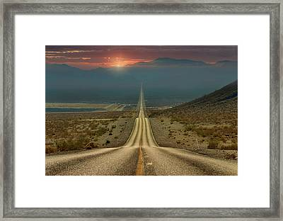 My Way... Framed Print