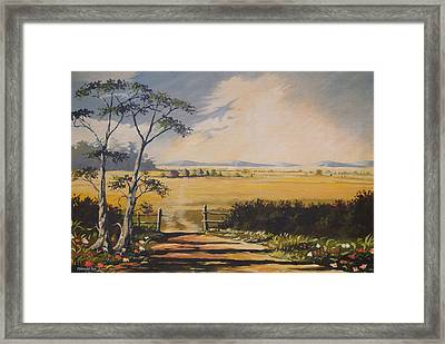 Framed Print featuring the painting My Way Home by Anthony Mwangi