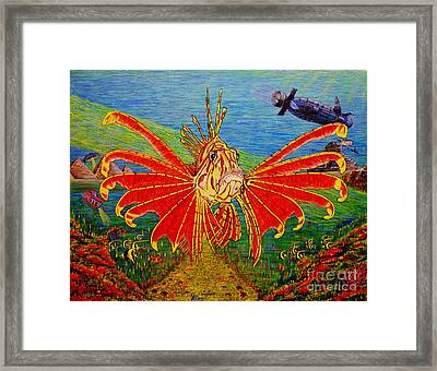 Framed Print featuring the painting My World Or Get Lost by Viktor Lazarev