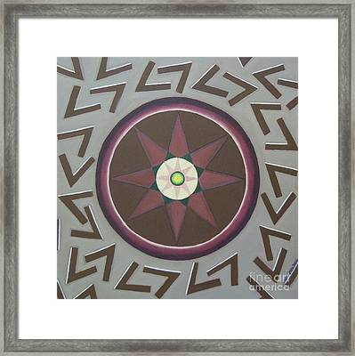 Framed Print featuring the painting My Yantra by Mini Arora