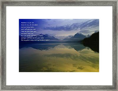 My Yoke Is Easy Framed Print by Jeff Swan