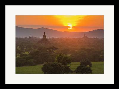 Bagan Framed Prints
