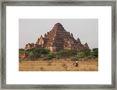 Myanmar, Bagan View Of Dhammayangyi Framed Print by Jaynes Gallery