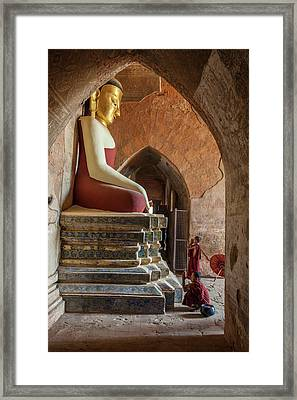Myanmar, Mandalay, Bagan Framed Print by Jaynes Gallery